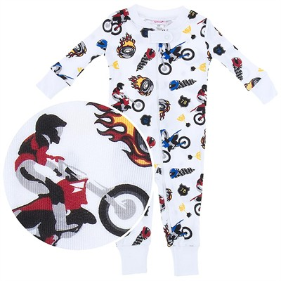 Agabang Motorcycle Organic Cotton Sleeper for Baby Boys
