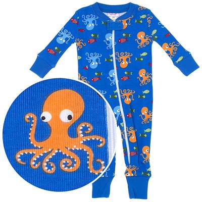 Agabang Octopus Organic Cotton Sleeper for Baby Boys