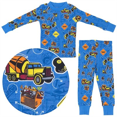 Agabang Construction Organic Cotton Pajamas for Toddlers and Boys