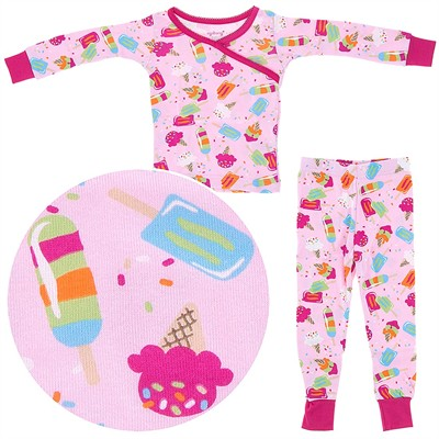 Agabang Ice Cream Organic Cotton Pajamas for Toddlers and Girls