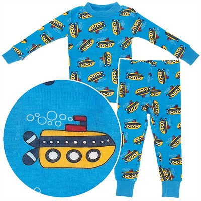 Agabang Submarine Organic Cotton Pajamas for Toddlers and Boys