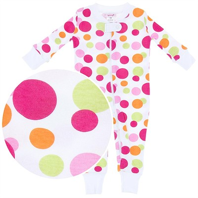 Agabang Pink Dot Organic Cotton Sleeper for Baby Girls