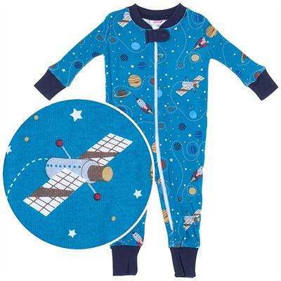 Agabang Space Organic Cotton Sleeper for Baby Boys
