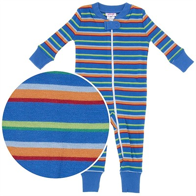 Agabang Blue Striped Organic Cotton Sleeper for Baby Boys