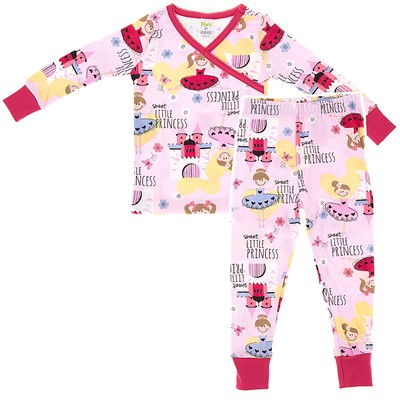 Agabang Sweet Little Princess Organic Cotton Pajamas for Toddlers and Girls