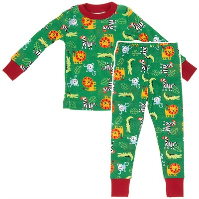 Agabang Zoo Animal Organic Cotton Pajamas for Toddlers and Boys