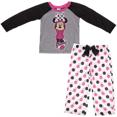 Gray Minnie Mouse Pajamas for Girls