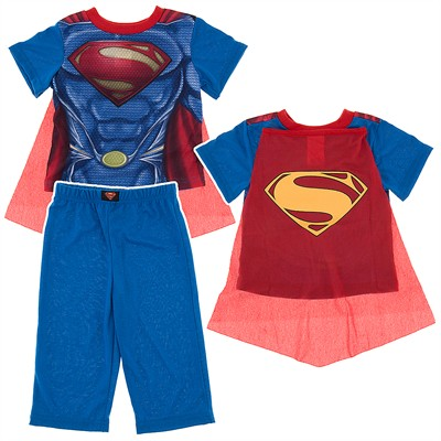 Muscular Superman Pajamas with Cape for Toddler Boys