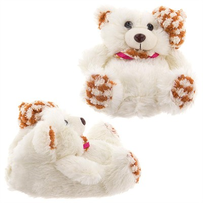 White Teddy Bear Slippers for Women