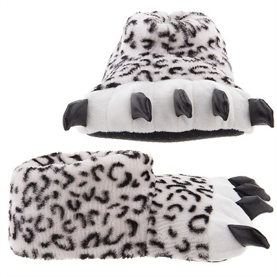 Snow Leopard Paw Slippers for Women and Men