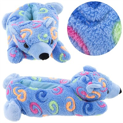 Blue Bear Animal Slippers for Women