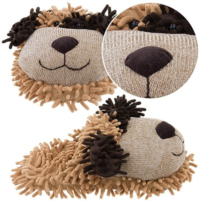 Brown Puppy Slippers for Kids