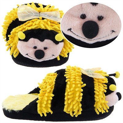 Bumblebee Fuzzy Animal Slippers for Women