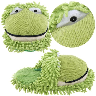 Fuzzy Frog Slippers for Women