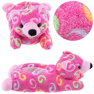Pink Bear Animal Slippers for Women