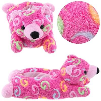 Pink Bear Animal Slippers for Women
