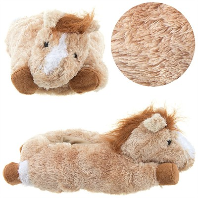 Beige Horse Animal Slippers for Women