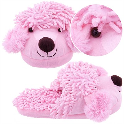 Pink Poodle Animal Slippers for Women
