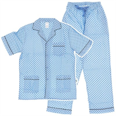 Assorted Clearance Short Sleeved Broadcloth Pajamas for Men