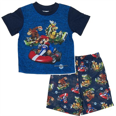 Mario Kart Shorty Pajamas for Boys