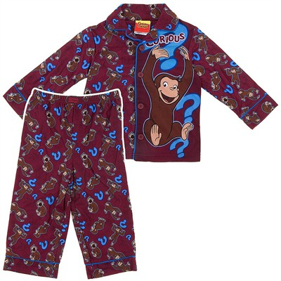 Curious George Question Coat-Style Pajamas for Toddler Boys