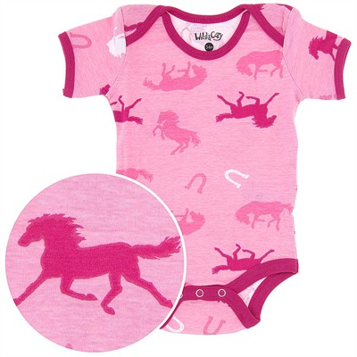 Horse Print Onesie for Baby Girls
