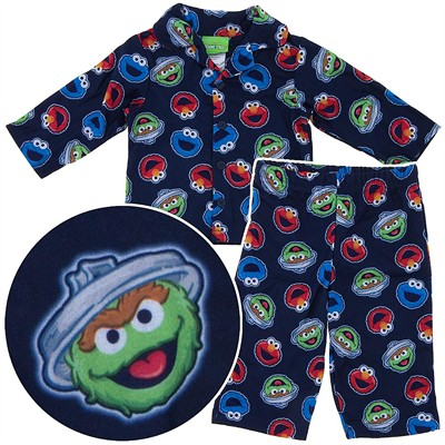 Sesame Street Coat-Style Pajamas for Baby Boys