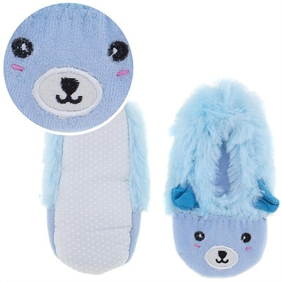 Fuzzy Blue Animal Ballerina House Slippers for Girls