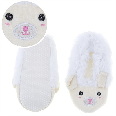 Fuzzy White Animal Ballerina House Slippers for Girls