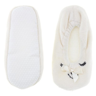 White Animal Ballerina House Slippers for Girls