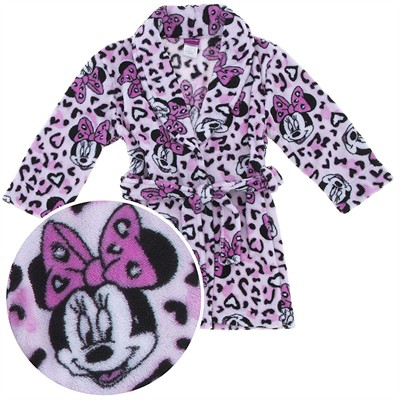 Minnie Mouse Leopard Bathrobe for Girls