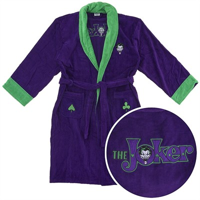 DC Joker Cotton Terry Bathrobe for Men