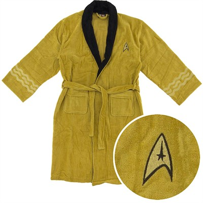 Star Trek Captain Kirk Cotton Terry Bathrobe for Men