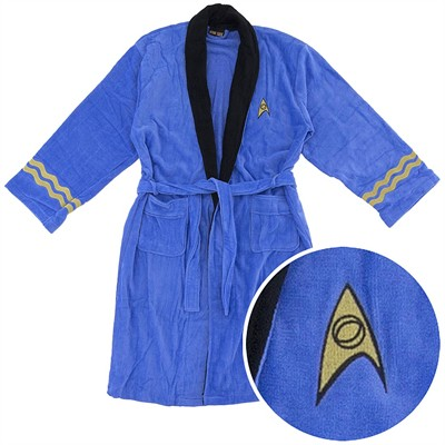Star Trek Mr. Spock Cotton Terry Bathrobe for Men