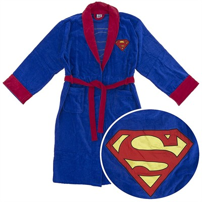 Superman Cotton Terry Bathrobe for Men