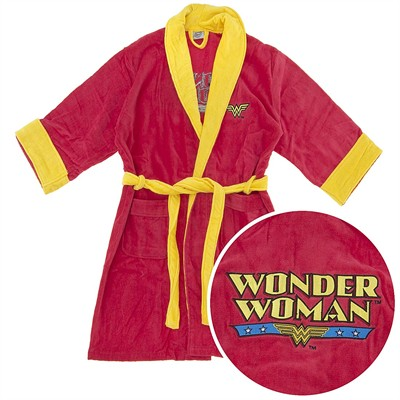Wonder Woman Cotton Terry Bathrobe for Women