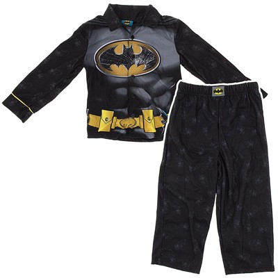 Batman Logo Coat-Style Pajamas for Boys