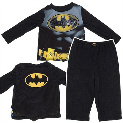 Batman Pajamas with Cape for Toddler Boys