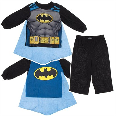 Batman Pajamas for Toddler Boys with Blue Cape
