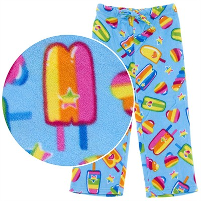 BeePOSH Blue Ice Cream Plush Pajama Pants for Girls