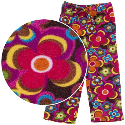 BeePOSH Wild Flower Fleece Pajama Pants for Girls