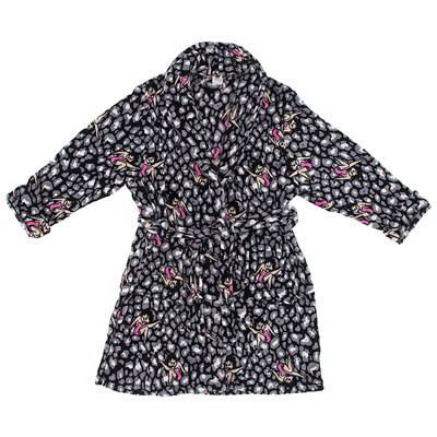 Betty Boop Gray Leopard Bath Robe for Women