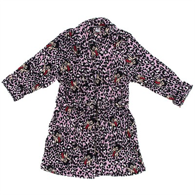 Betty Boop Pink Leopard Bath Robe for Women