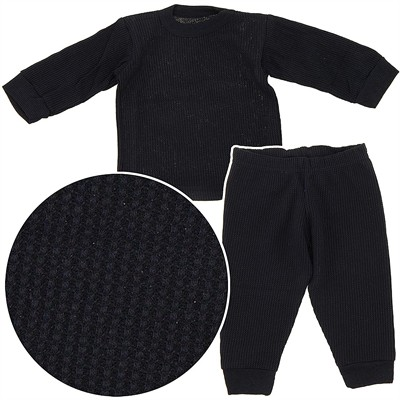 Beverly Hills Polo Club Black Thermals for Infants and Boys