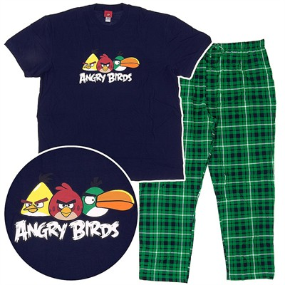 Angry Birds Green Pajamas for Big Men