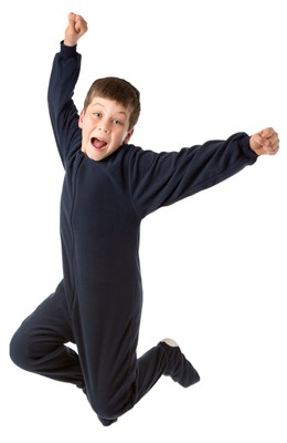 Big Feet PJs Navy Fleece Footed Pajamas for Boys