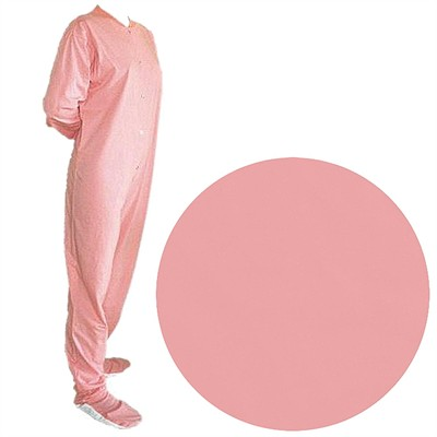 Big Feet PJs Pink Jersey Knit Footed Pajamas for Women and Men
