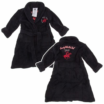 Black Beverly Hills Polo Club Bath Robe for Toddlers