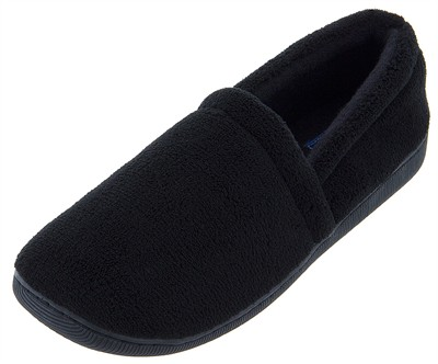 Dockers Black Micro Terry Slippers for Men