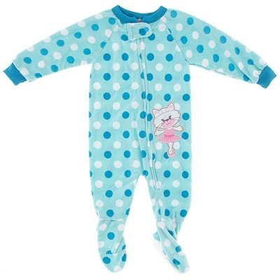 Blue Polka Dot Cat Blanket Sleeper for Girls